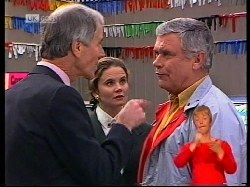 Phil Friendly, Julie Robinson, Lou Carpenter in Neighbours Episode 1979