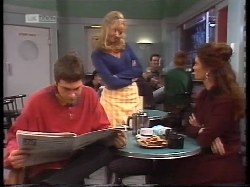 Mark Gottlieb, Annalise Hartman, Gaby Willis in Neighbours Episode 1996