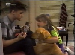 Michael Martin, Holly, Hannah Martin in Neighbours Episode 2069