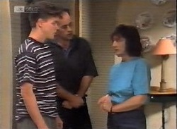 Michael Martin, Philip Martin, Pam Willis in Neighbours Episode 2071