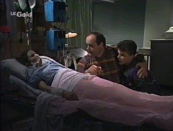 Julie Robinson, Philip Martin, Michael Martin in Neighbours Episode 2242