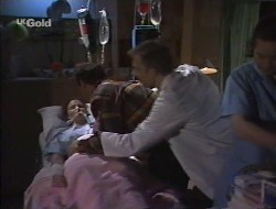 Julie Robinson, Philip Martin, Dr. Jack Chang in Neighbours Episode 2242