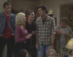 Luke Handley, Annalise Hartman, Stonie Rebecchi, Sam Kratz, Philip Martin, Marlene Kratz, Cody Willis, Jen Handley in Neighbours Episode 2400