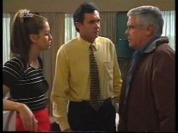 Sarah Beaumont, Karl Kennedy, Lou Carpenter in Neighbours Episode 2996