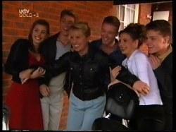 Anne Wilkinson, Lance Wilkinson, Ruth Wilkinson, Ben Atkins, Hannah Martin, Michael Martin in Neighbours Episode 3109