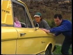 Anne Wilkinson, Joel Samuels, Karl Kennedy in Neighbours Episode 3220