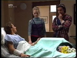 Joel Samuels, Sally Upton, Drew Kirk in Neighbours Episode 3221