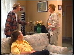 Tad Reeves, Toadie Rebecchi, Coral Reeves in Neighbours Episode 3225