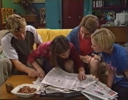 Billy Kennedy, Anne Wilkinson, Lance Wilkinson, Amy Greenwood in Neighbours Episode 3239