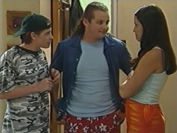 Tad Reeves, Toadie Rebecchi, Sarah Beaumont in Neighbours Episode 3281