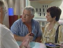 Harold Bishop, Lou Carpenter, Frances Nagel in Neighbours Episode 3284