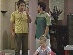Drew Kirk, Paul McClain, Louise Carpenter (Lolly) in Neighbours Episode 3284