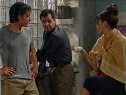 Drew Kirk, Karl Kennedy, Sarah Beaumont in Neighbours Episode 3286