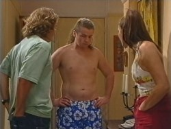 Joel Samuels, Toadie Rebecchi, Sarah Beaumont in Neighbours Episode 3297