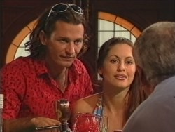Hank Forster, Sarah Beaumont, Lou Carpenter in Neighbours Episode 3297