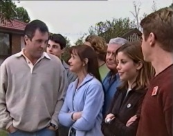 Karl Kennedy, Paul McClain, Susan Kennedy, Joel Samuels, Lou Carpenter, Anne Wilkinson, Lance Wilkinson in Neighbours Episode 3418