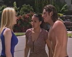 Dee Bliss, Carrie Clark, Joel Samuels in Neighbours Episode 3503