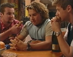 Toadie Rebecchi, Joel Samuels, Lance Wilkinson in Neighbours Episode 3503