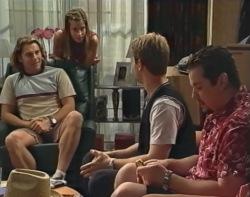 Joel Samuels, Anne Wilkinson, Lance Wilkinson, Toadie Rebecchi in Neighbours Episode 3503