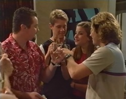 Toadie Rebecchi, Lance Wilkinson, Anne Wilkinson, Joel Samuels in Neighbours Episode 3503
