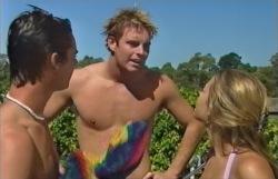 Sean Edwards, Steve Callum, Felicity Scully in Neighbours Episode 3546