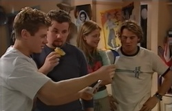 Lance Wilkinson, Toadie Rebecchi, Felicity Scully, Joel Samuels in Neighbours Episode 3645