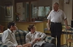Paul McClain, Tad Reeves, Harold Bishop in Neighbours Episode 3770