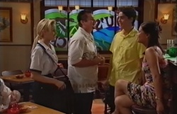 Dee Bliss, Toadie Rebecchi, Matt Hancock, Laura Wallace in Neighbours Episode 3794