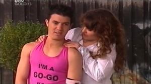 """Stingray Timmins, Georgina """"Go-Go"""" Riley in Neighbours Episode 4765"""
