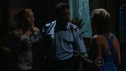 Janelle Timmins, Allan Steiger, Janae Hoyland in Neighbours Episode 5243