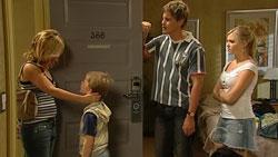 Kirsten Gannon, Mickey Gannon, Ned Parker, Janae Hoyland in Neighbours Episode 5243