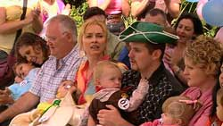 Harold Bishop, Janelle Timmins, Charlie Hoyland, Toadie Rebecchi in Neighbours Episode 5243