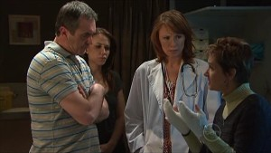 Karl Kennedy, Libby Kennedy, Dr Demi Vinton, Susan Kennedy in Neighbours Episode 5347