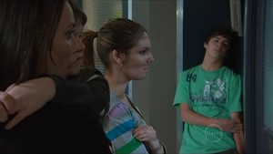 Libby Kennedy, Ben Kirk, Rachel Kinski, Zeke Kinski in Neighbours Episode 5348