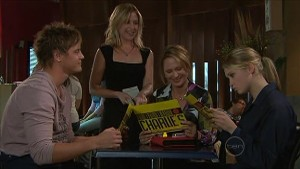 Ned Parker, Kirsten Gannon, Miranda Parker, Janae Timmins in Neighbours Episode 5349