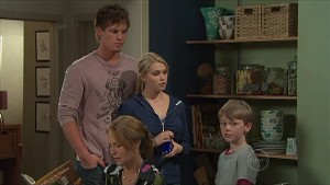 Ned Parker, Janae Timmins, Miranda Parker, Mickey Gannon in Neighbours Episode 5350