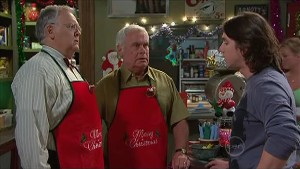 Harold Bishop, Lou Carpenter, Darren Stark in Neighbours Episode 5356