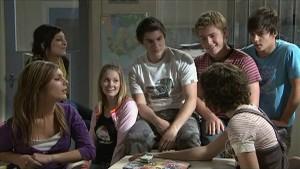 Taylah Jordan, Rachel Kinski, Jessica Wallace, Declan Napier, Ringo Brown, Bridget Parker, Zeke Kinski in Neighbours Episode 5363