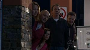 Miranda Parker, Steve Parker, Rebecca Napier, Karl Kennedy, Paul Robinson in Neighbours Episode 5363
