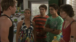 Ringo Brown, Rachel Kinski, Declan Napier, Zeke Kinski, Bridget Parker in Neighbours Episode 5440