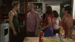 Chris Knight, Steve Parker, Rebecca Napier, Mozzie Cummings in Neighbours Episode 5440