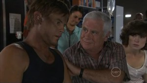 Ned Parker, Lou Carpenter, Bridget Parker in Neighbours Episode 5487