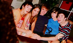 Zeke Kinski, Rachel Kinski, Ringo Brown, Bridget Parker, Declan Napier in Neighbours Episode 5520