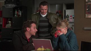 Lucas Fitzgerald, Paul Robinson, Elle Robinson in Neighbours Episode 5567