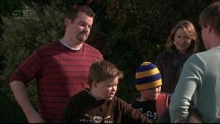 Toadie Rebecchi, Callum Jones, Mickey Gannon, Miranda Parker, Ringo Brown in Neighbours Episode 5567
