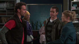 Lucas Fitzgerald, Donna Freedman, Paul Robinson, Elle Robinson in Neighbours Episode 5568