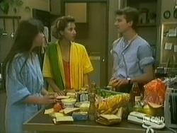 Nikki Dennison, Jane Hughes, Danny Ramsay in Neighbours Episode 0182