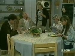 Paul Robinson, Jim Robinson, Shane Ramsay, Helen Daniels, Zoe Davis in Neighbours Episode 0183