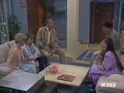 Helen Daniels, Scott Robinson, Jim Robinson, Nikki Dennison, Paul Robinson in Neighbours Episode 0189