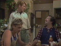 Shane Ramsay, Clive Gibbons, Max Ramsay in Neighbours Episode 0190